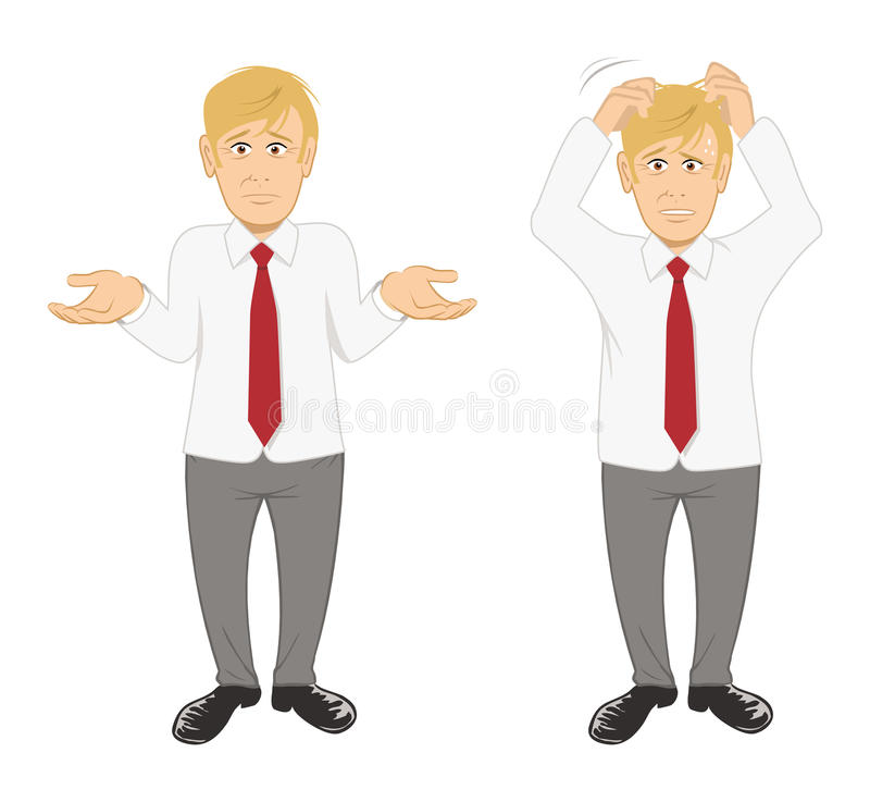 Download Office guy stressed stock vector. Illustration of office - 22374467