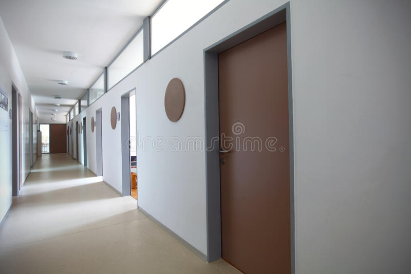 Office hallway stock image