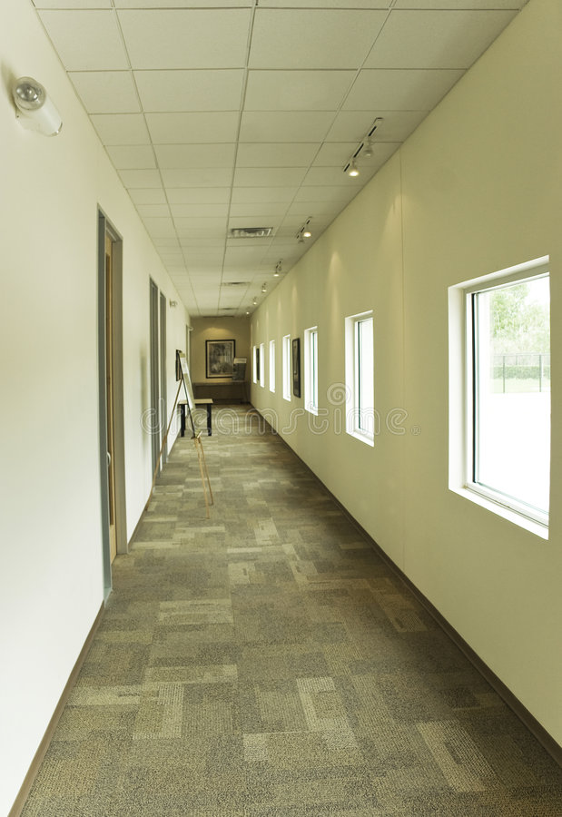 Download Office Hallway stock image. Image of light, perspective - 8929215