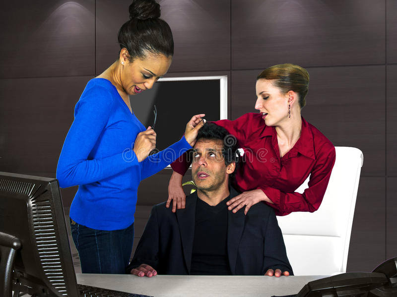 Office Harassment stock photography