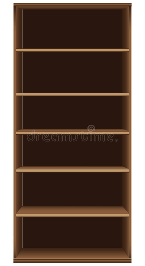 Office High Bookcase royalty free illustration