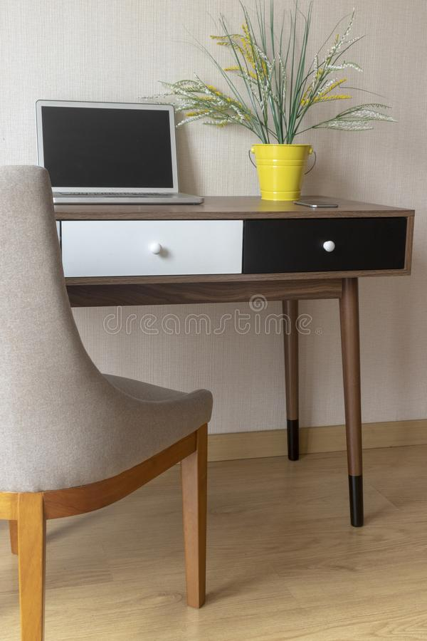 Office within the home royalty free stock image