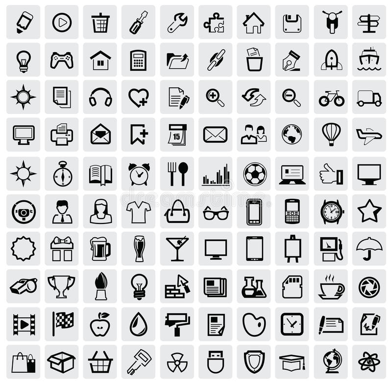 Download Office icon stock illustration. Illustration of black - 29048154