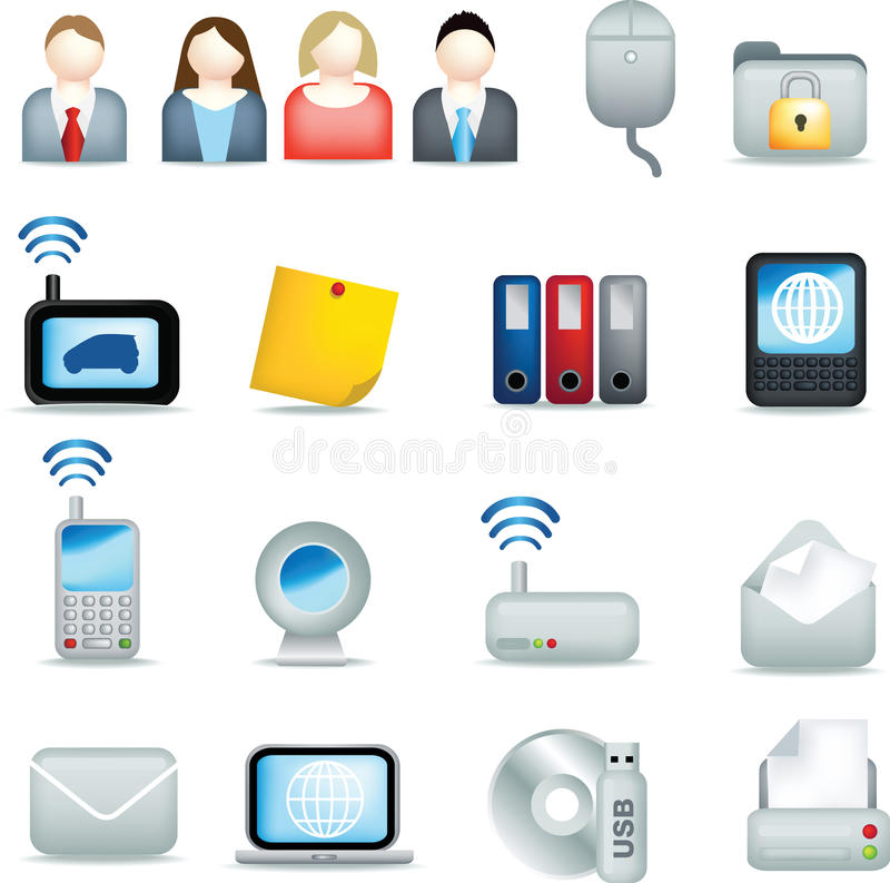 Office icon set royalty free illustration