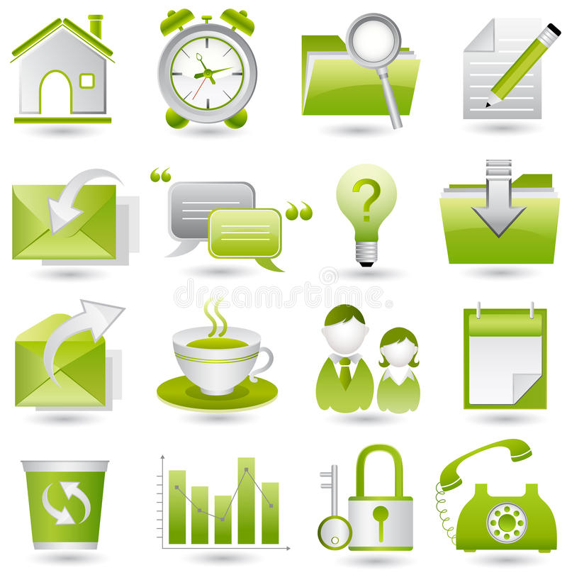 Download Office icon set stock vector. Illustration of communication - 11603250