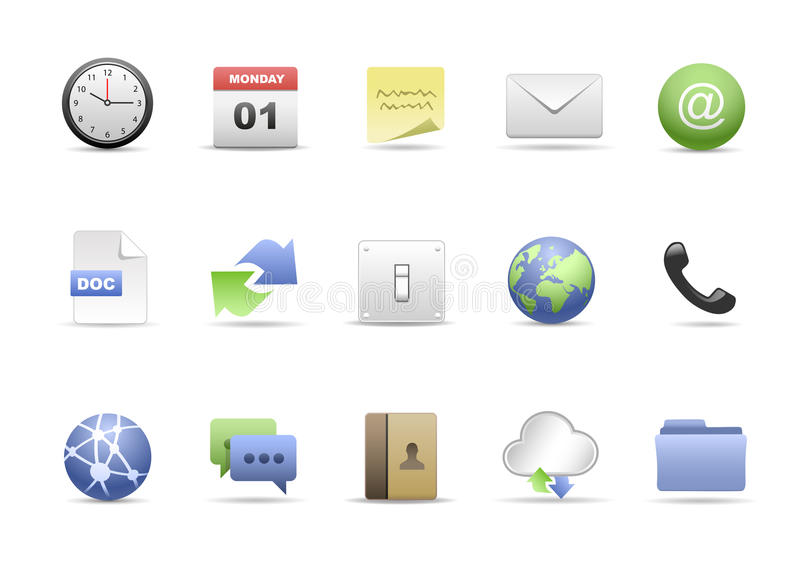The Office Icon Set stock illustration