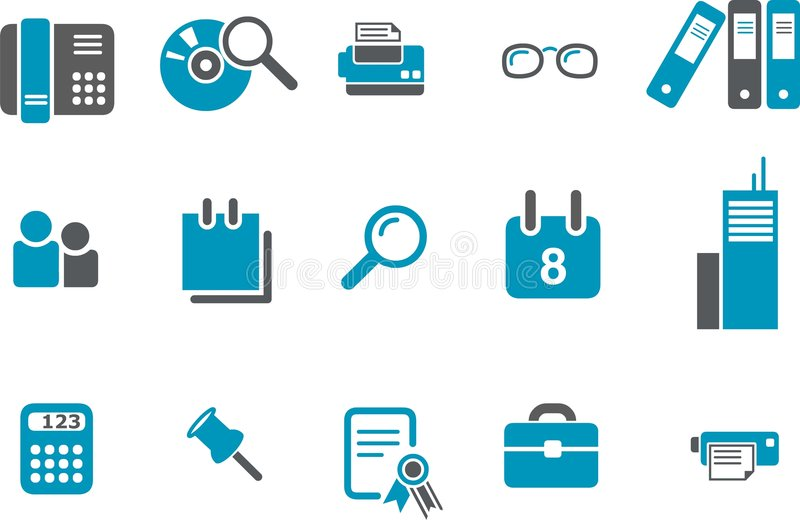 Office Icon Set vector illustration