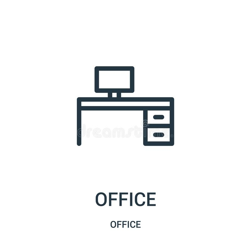 office icon vector from office collection. Thin line office outline icon vector illustration vector illustration