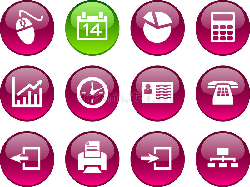 Download Office icons. stock vector. Image of ball, business, diagram - 13651153