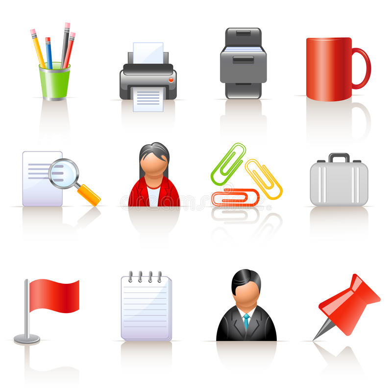 Download Office Icons Royalty Free Stock Image - Image: 13932186