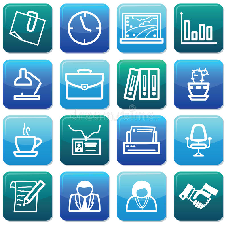Office Icons Royalty Free Stock Photos
