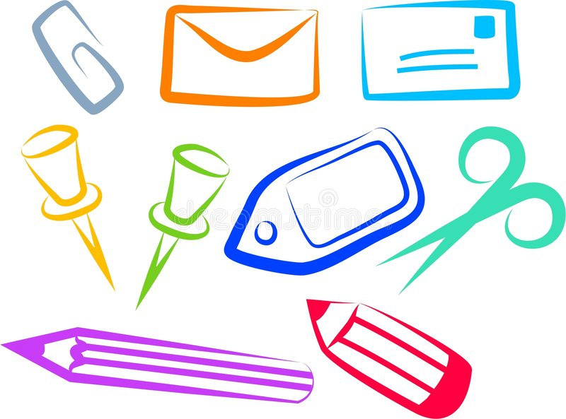 Download Office Icons Royalty Free Stock Image - Image: 194806