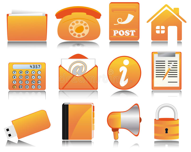 Office Icons Royalty Free Stock Image