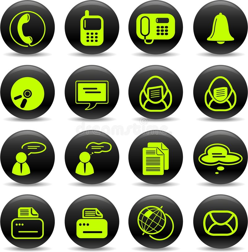Download Office icons stock vector. Illustration of message, internet - 8918751