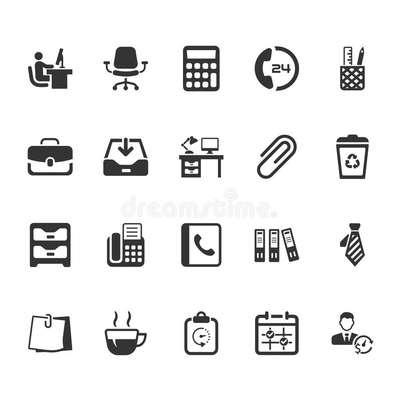 Office Icons - Gray Version vector illustration