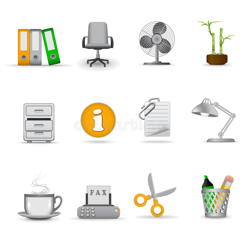 Office icons, part 1 royalty free illustration