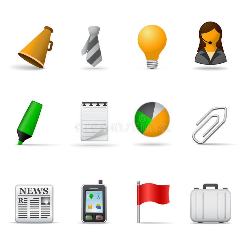 Office icons, part 2 royalty free illustration