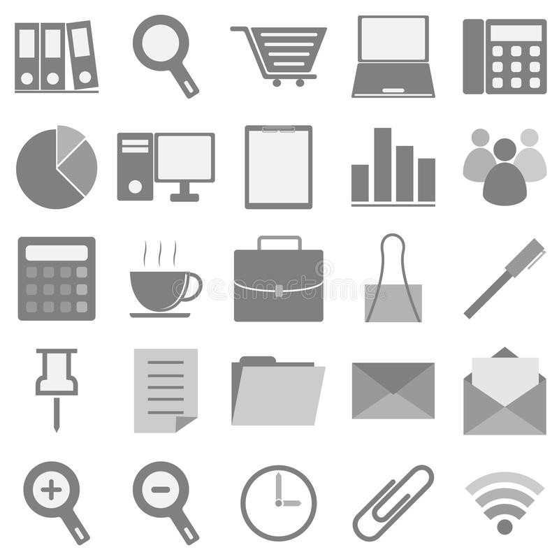 Download Office Icons With White Background Stock Image - Image: 33550161