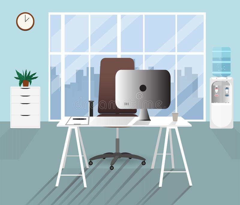 Flat office concept illustration. Vector illustration. vector illustration