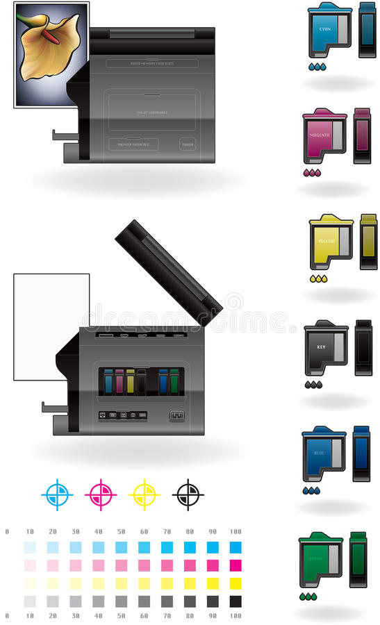 Office InkJet Printer/Photocopier royalty free illustration