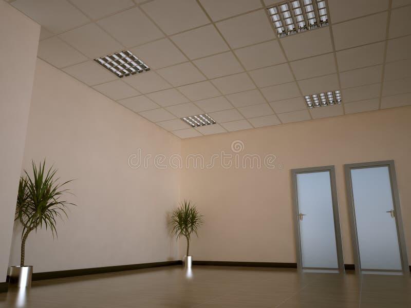 Office interior stock illustration