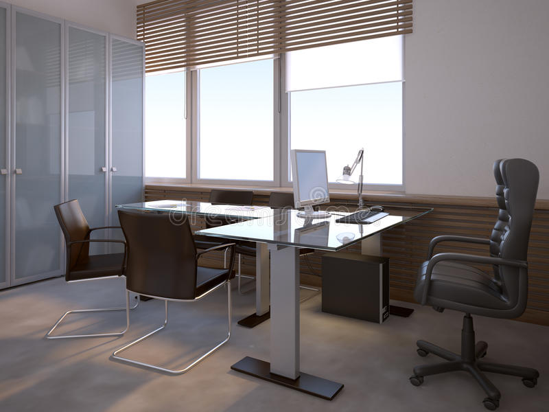 Office interior vector illustration
