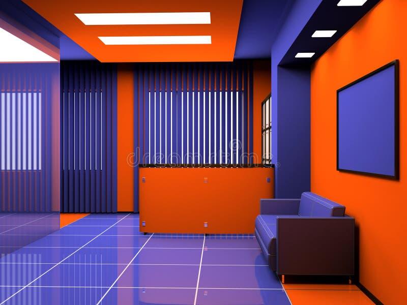 Office interior. Interior of modern office 3D