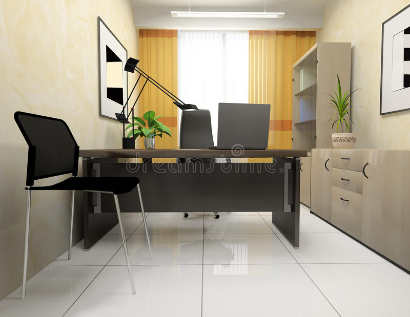 Download Office interior stock illustration. Illustration of business - 26622890