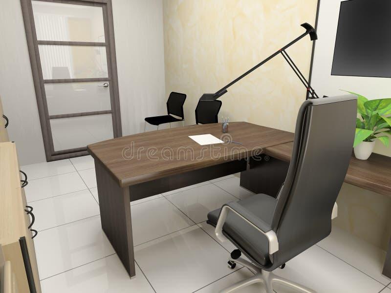 Download Office interior stock illustration. Illustration of desk - 26622906