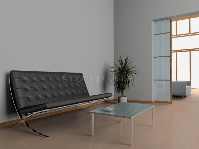 Office interior. Modern interior of office 3D