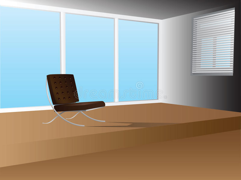 Download Office Interior With Armchair Stock Vector - Image: 27013701