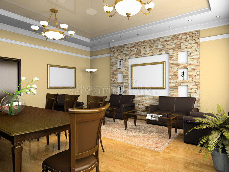 Download Office Interior In Classical Style Stock Illustration - Illustration: 6889435