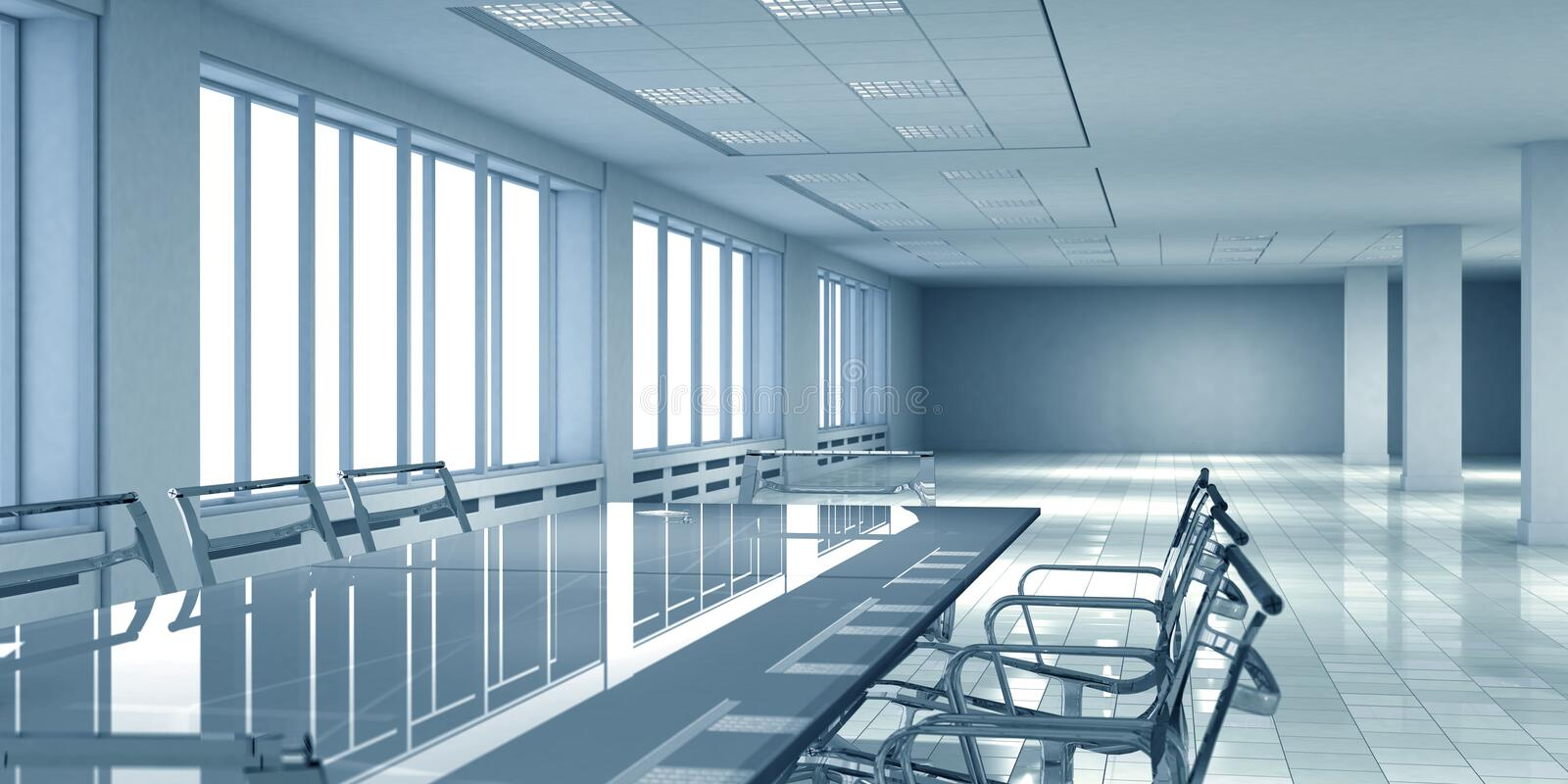 Download Office interior space stock illustration. Illustration of background - 2545076