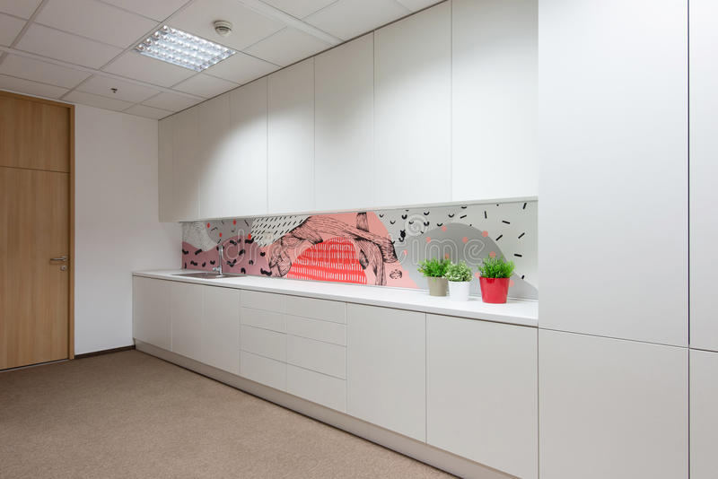 Office interiors created by Kivvi architects, Bratislava, Slovakia stock image