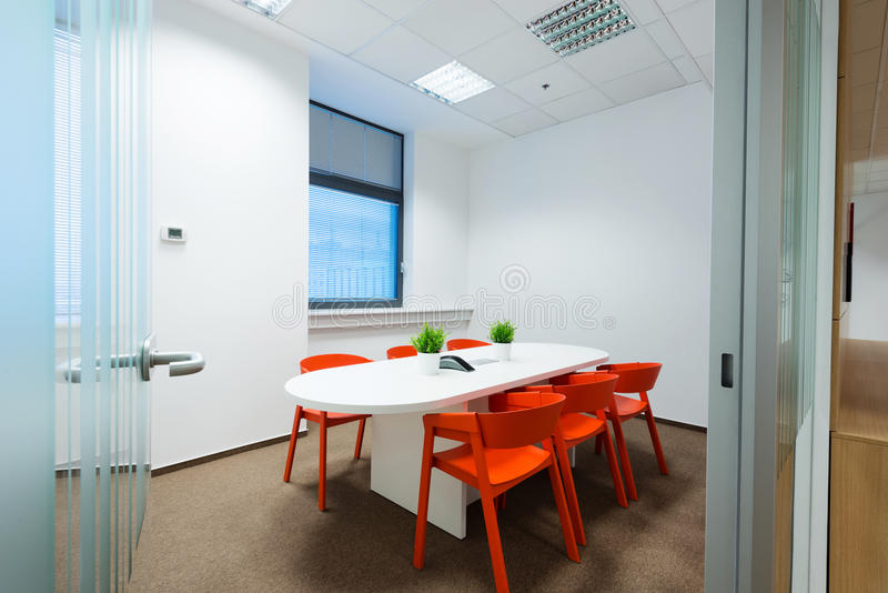 Office interiors created by Kivvi architects, Bratislava, Slovakia. BRATISLAVA, SLOVAKIA - FEB 18, 2016: Modern attractive design of office interiors in IT royalty free stock photos