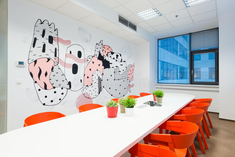 Office interiors created by Kivvi architects, Bratislava, Slovakia royalty free stock image