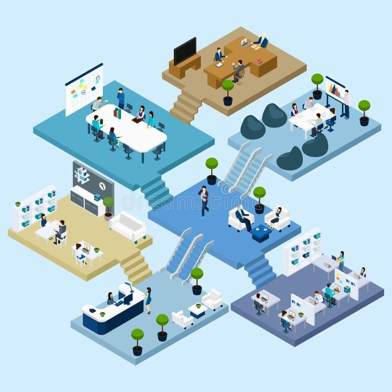 Office Isometric Icon royalty free illustration