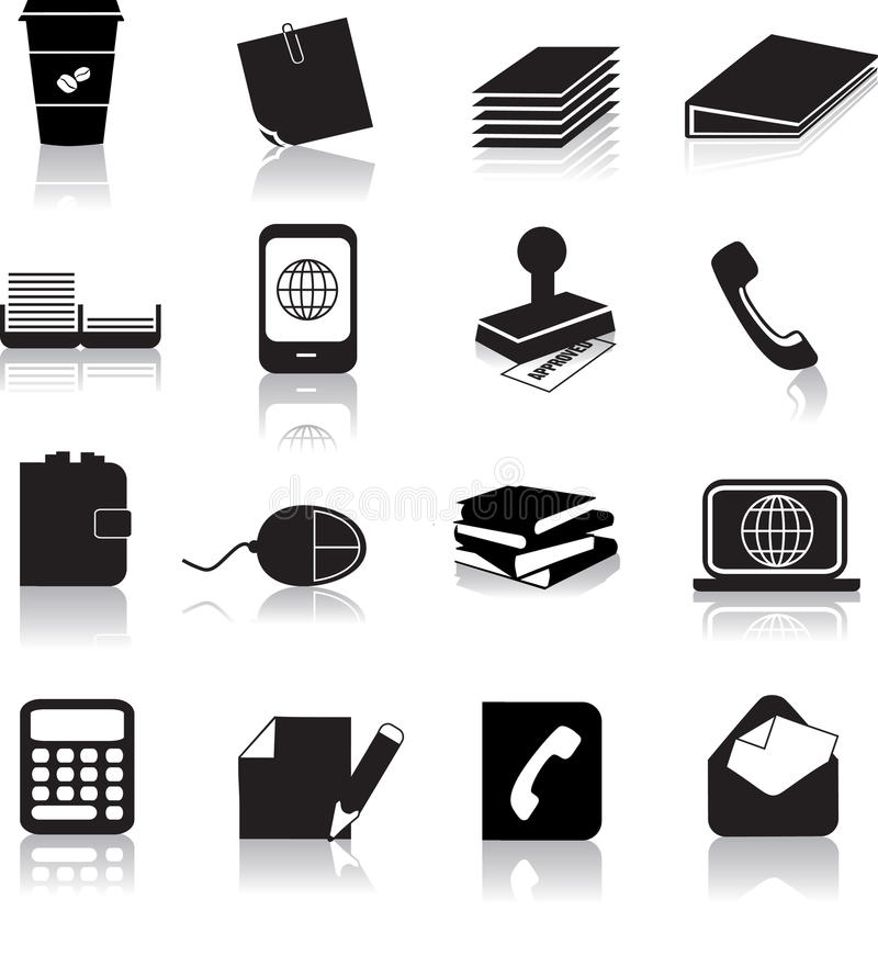 Download Office items stock vector. Image of items, letter, object - 12685347