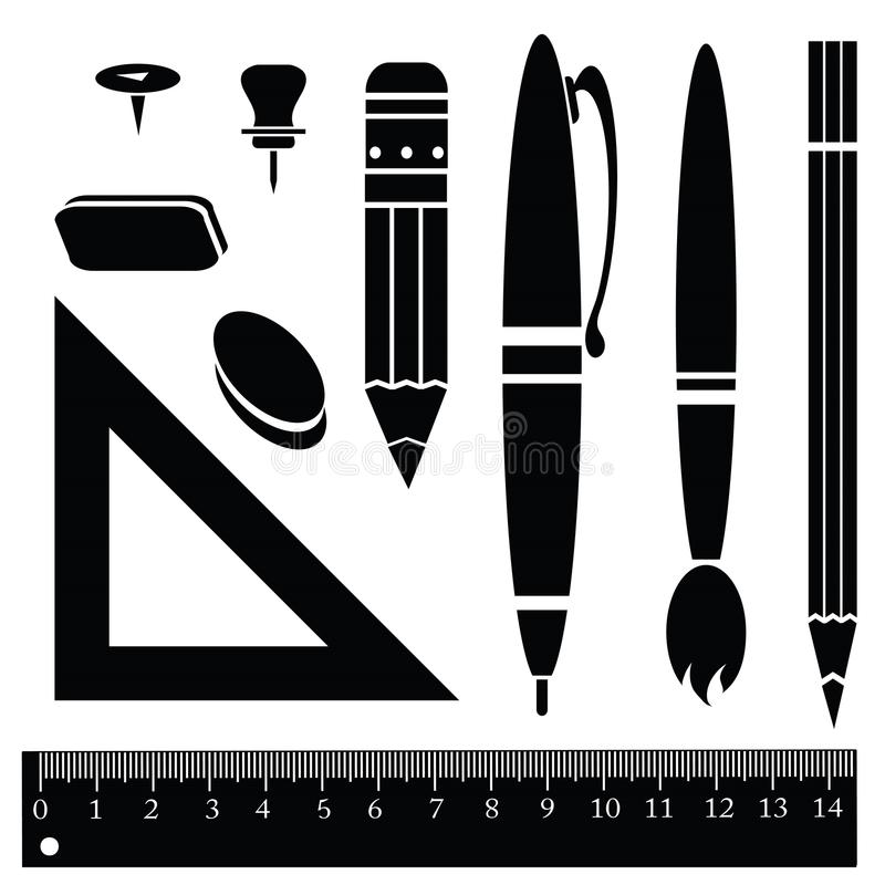 Office items royalty free illustration