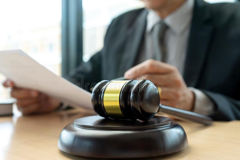 In the office of Judge or lawyer stock photos