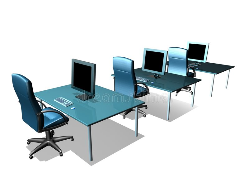 OFFICE LCD MONITOR. 3d model of lcd monitor in the office vector illustration