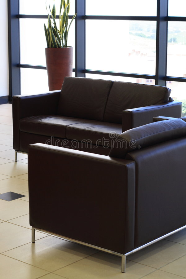 Office leather furniture royalty free stock photos