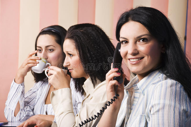 Download Office Life With Three Business Women Stock Image - Image: 10943853