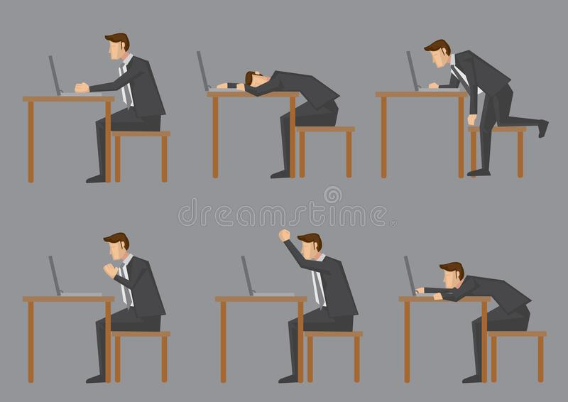 Office Life of White-Collar Worker royalty free illustration