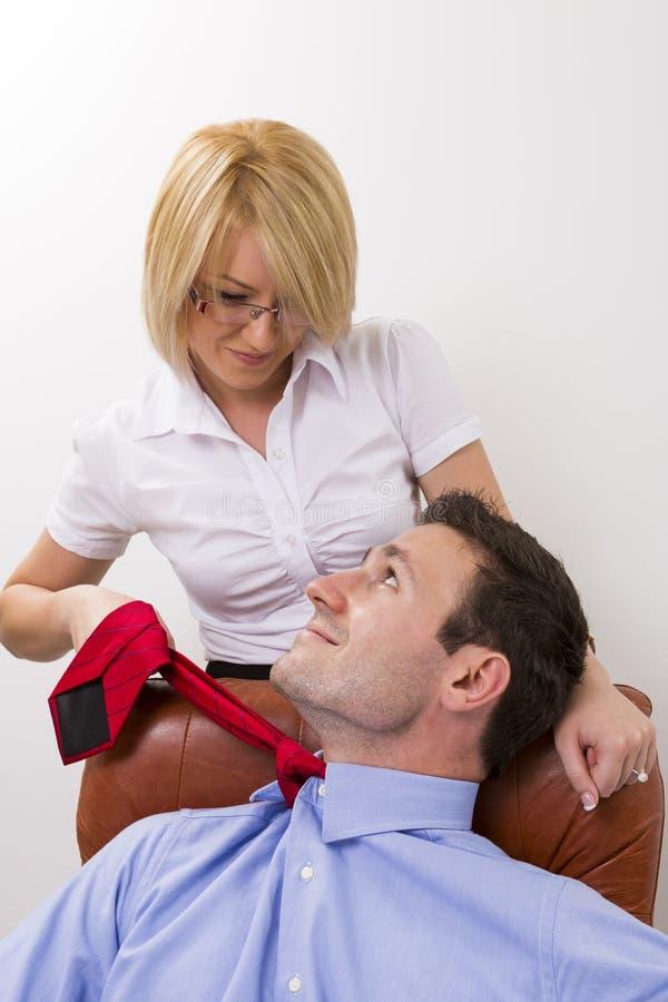Office love affair stock photos