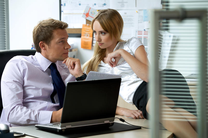 Office love affair concept royalty free stock image