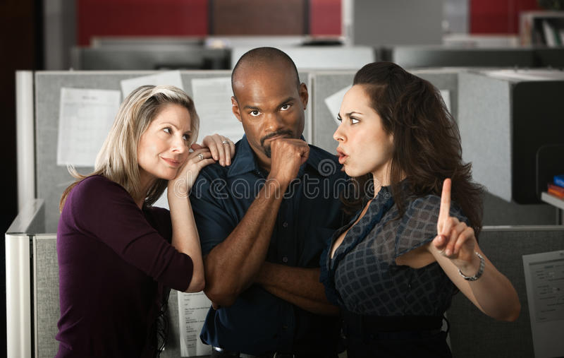 Office Love Trianlge royalty free stock images