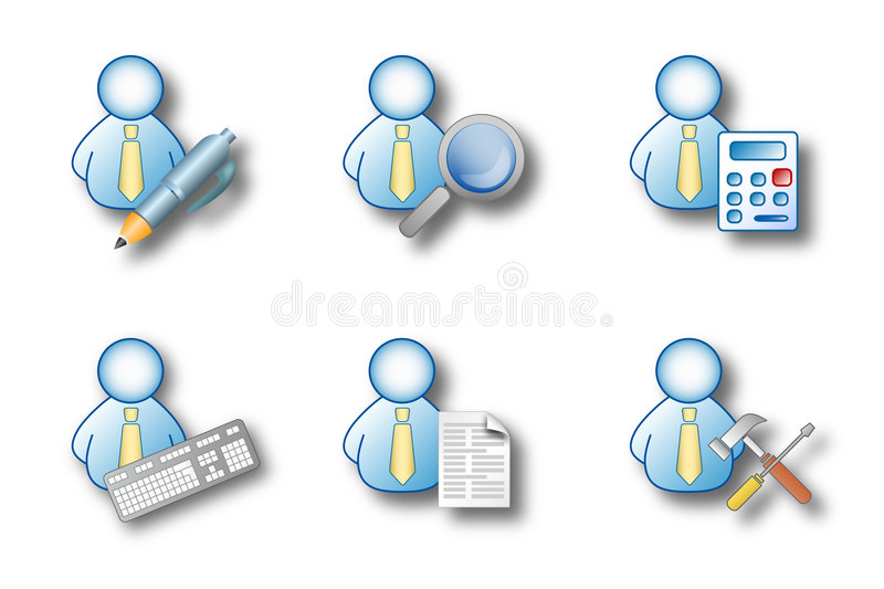 Office man activities royalty free illustration