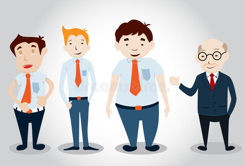 Download Office Man Characters stock vector. Image of male, work - 34643661