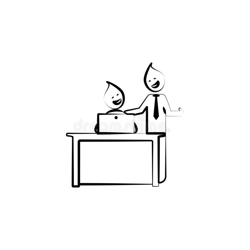 Office man good job well boss outline icon. Element of office life illustration. Premium quality graphic design icon. Signs and sy vector illustration